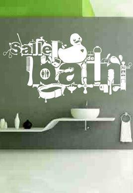 Stickers salle de bain. Pour décorer les murs de sa salle de bain avec un stickers design