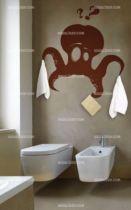 stickers pieuvre salle de bain