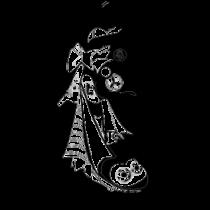 Le stickers samouraï asiatique en noir pour une décoration exotique