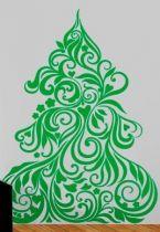Stickers sapin et cœurs de Noël