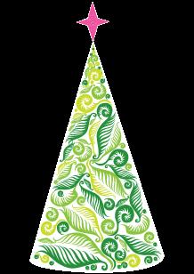 Stickers sapin vert