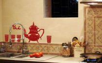 stickers service à thé du maghreb pour créer une déco orientale. Stickers en vente sur iDzif.com
