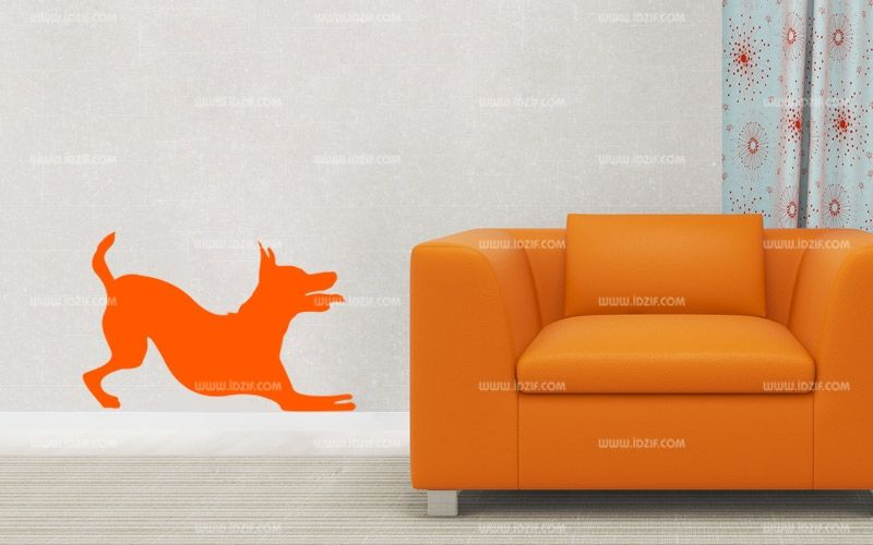 Stickers silhouette chien