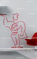 Stickers silhouette de super-héros