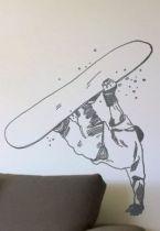 Stickers snowboard saut