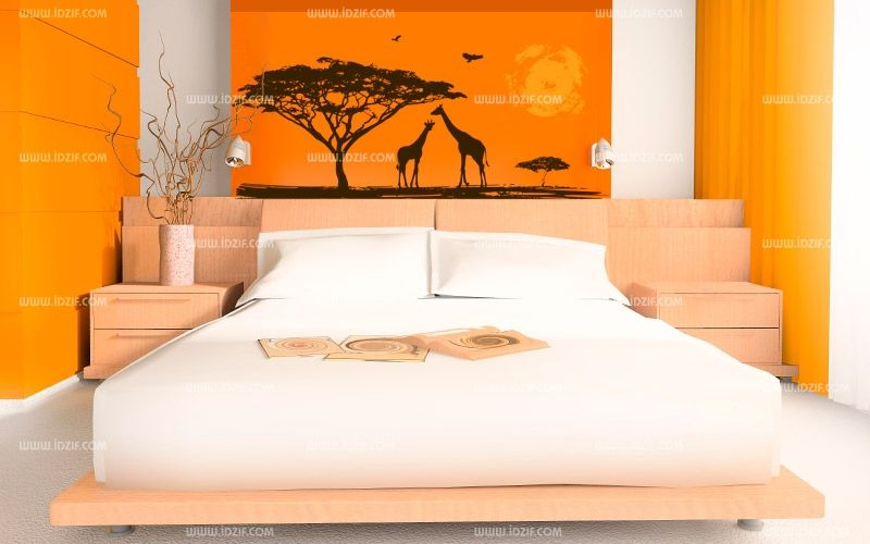 stickers soleil africain. Black Bedroom Furniture Sets. Home Design Ideas