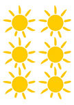 Stickers soleil. Sunny