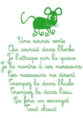 Stickers Souris verte
