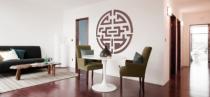 Le stickers symbole asiatique rond pour une décoration ethnique et dépaysante