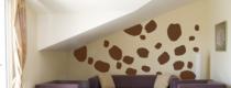 Le stickers tâche de vache pour décorer l\'intérieur