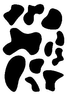Stickers taches de vache