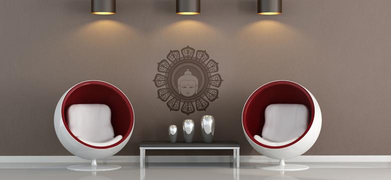 Le stickers tête de Bouddha pour une décoration ethnique et dépaysante