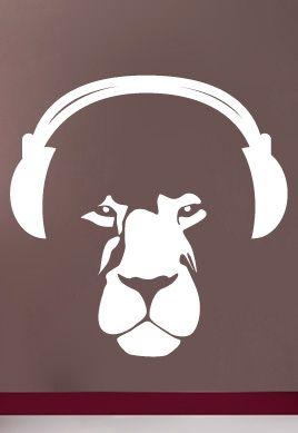 stickers musique lion