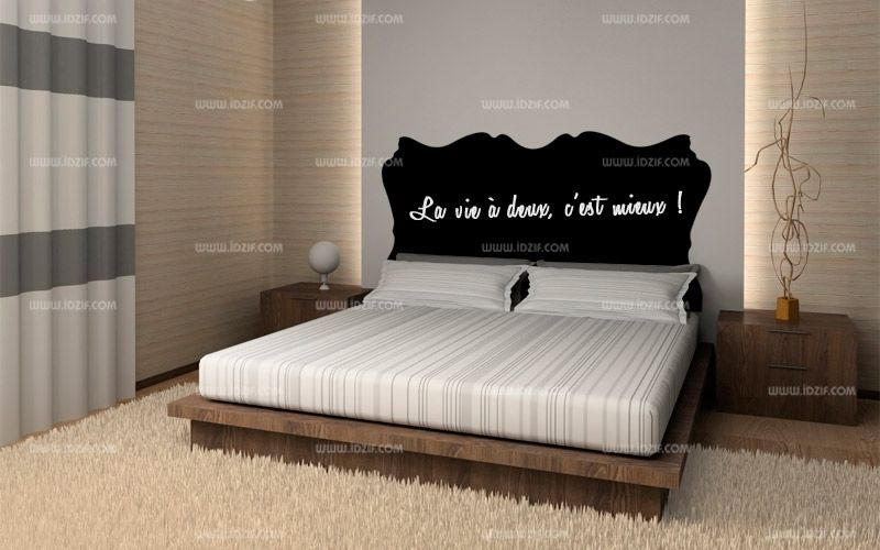 stickers t te de lit ardoise. Black Bedroom Furniture Sets. Home Design Ideas