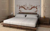 stickers floral tete de lit