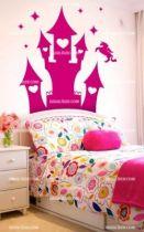 Stickers tête de lit château