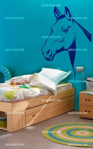 Stickers tête de lit cheval
