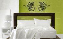 Stickers tête de lit hirondelles