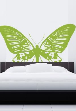 stickers t te de lit papillon. Black Bedroom Furniture Sets. Home Design Ideas