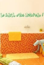 Stickers texte bain