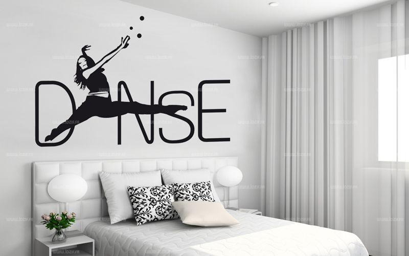 sticker danse. Black Bedroom Furniture Sets. Home Design Ideas
