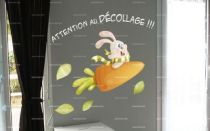 stickers attention au decollage
