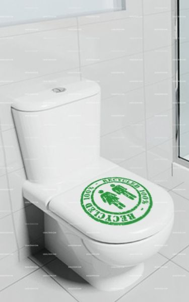 Stickers toilette 100% RECYCLED.