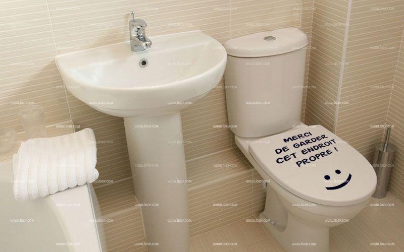 stickers texte wc propre