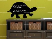 stickers tortue ardoise