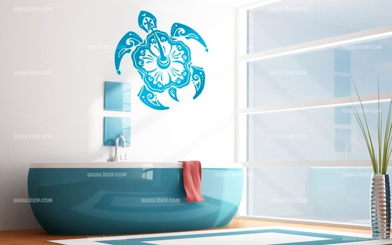 Stickers tortue fa on maori for Logo salle de bain
