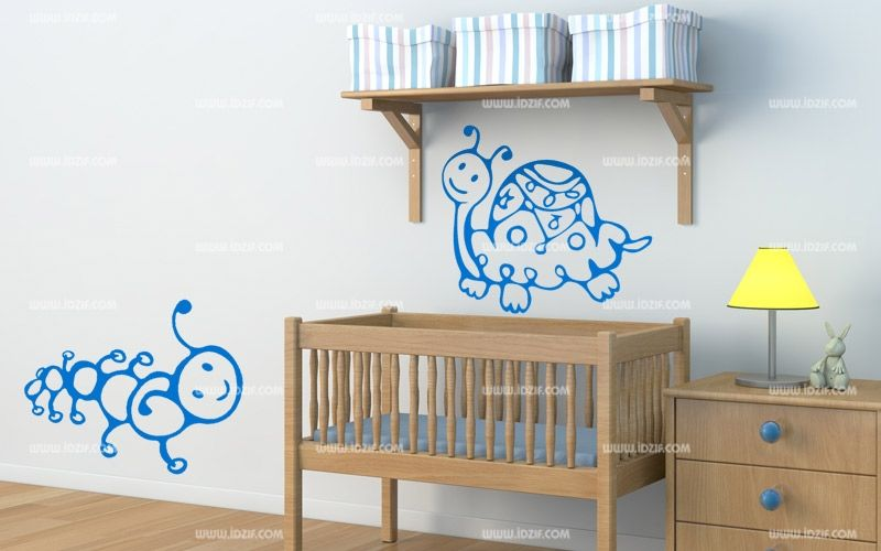 stickers tortue pour chambre de b b. Black Bedroom Furniture Sets. Home Design Ideas