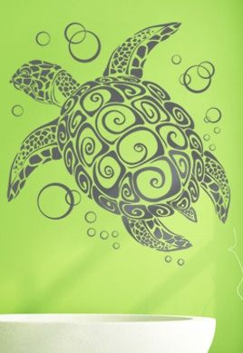 stickers muraux tortue