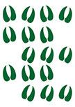 Stickers traces de cerf