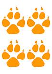 Stickers traces de chien