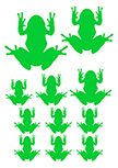 Stickers traces de grenouille
