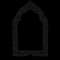 Le stickers trompe l\'œil cadre oriental en noir pour une décoration exotique