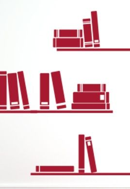 stickers livres sur etageres