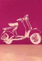 stickers retro vespa