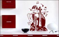 Le stickers violoncelliste musicienne pour décorer l\'intérieur