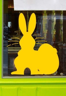 Stickers vitrine lapin de Pâques