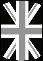 Stickers voiture drapeau anglais Noir et Blanc