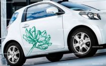 Stickers voiture �closion florale