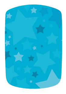 Stickers voiture étoiles bleues