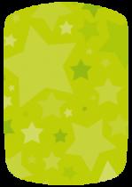 Stickers voiture étoiles vertes