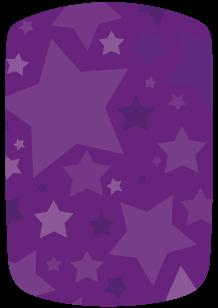 Stickers voiture étoiles violettes