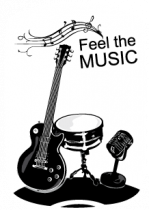 Stickers voiture feel the music