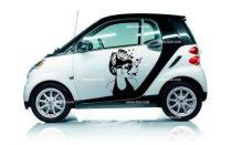Stickers voiture femme