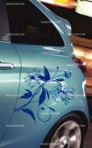 Stickers voiture fleur