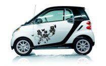 Stickers voiture fleurs