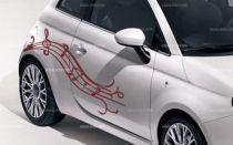 Stickers voiture notes de musique
